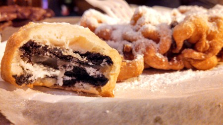 Deep fried Oreo and Funnel Cake at Fried and True