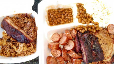 Hall of Flame BBQ sampler